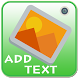 Write text on picture,Add text by Fast Charger Save Battery Magic