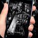 Death skull gun theme lock screen by Cool Theme Creator