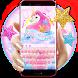 Glitter unicorn girl keyboard by JeffMStocks