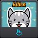 Cute Kitten TouchPal Keyboard Sticker by Sexy Apple