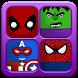 Matching Superhero Educational Game - Memory Game