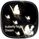 Golden Butterfly Dream by Launcher phone theme