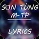 Sơn Tùng MT-P Lyrics - Top Hit by PE Studio