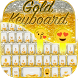 Gold Glitter Emoji Keyboard by Emoji lockscreen Pro Keyboard