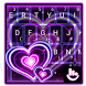 Sparkling Purple Heart Keyboard Theme by Fashion Cute Emoji