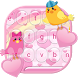 Love Keyboard Pink Cute Birds by Best Free Android Themes