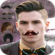 Man Mustache and Hairstyle color changer salon