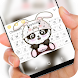 Cute panda rabbit Keyboard by Jubee Theme Studio
