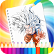 Coloring Dragon Ball Pages by Coloring Book Cartoon