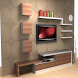 Shelves TV furniture design by APP2DEV