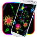 Neon colorful flower theme by cool theme designer