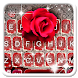 Red Lace Rose Keyboard Theme by 7star princess