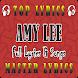 Amy Lee Songs & Lyrics by MASTER LYRICS