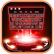 Neon Red Technology Keyboard Theme by Super Cool Keyboard Theme