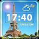 Paris Weather Clock Widget by Cicmilic Soft