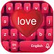 Red Love Keyboard Theme by Echo Keyboard Theme