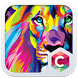 Abstract Lion Theme C Launcher by Baj Launcher Team