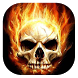 Skull in flames live wallpaper by Gopastido