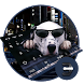 Cool dog spotted sunglasses style keyboard by Bestheme Keyboard Designer