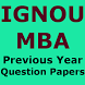 Previous year question papers for IGNOU MBA exam by OM ASHISH KUMAR