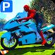 Superheroes Bike Parking: Super Stunt Racing Games by Let's Game