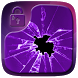 Lavender Crystal Cracked Locker Theme