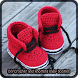 Crochet knotting baby booties by Diane DeLand