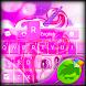 Cute Pink Unicorn Keyboard by GO T-Me