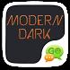 GO SMS Modern Dark by GO T-Me