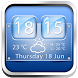 Glass Weather Clock Widget by Cicmilic Soft