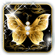 Luxurious gold butterfly diamond keyboard theme