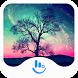 Dreamy Aurora Keyboard Theme by Sexy Free Emoji Keyboard Theme