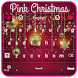 Pink Christmas Keyboard by Luna Themes