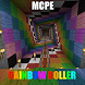 Rainbow RollerCoaster MCPE map by candy chicken