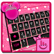 Pink Dot Girly Cuteness Minnie Keyboard Theme by Hot Keyboard Themes For Android