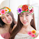 Photo Booth Heart Editor - Flower Crown by tiplaydev