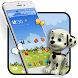 Adorable Animated Puppy Theme by stylish android themes