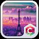 Eiffel Tower Purple Theme by Baj Launcher Team