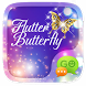 GO SMS FLUTTER BUTTERFLY THEME by ZT.art