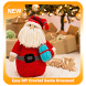 Easy DIY Crochet Santa Ornament