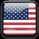 USA Flag Analog Clock Widget by SCCAL