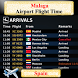 Malaga Airport Flight Time by AsoftTech Solutions