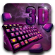 3D Purple Keyboard Theme