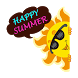 Summer Holiday Sticker GIF by Funny Sticker Design