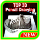 TOP 3D Pencil Drawing by Maknawiyah