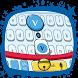 Cute Blue Cat Keyboard Theme by Pretty Keyboard Theme