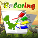 Dinosaurs Colouring Kids Game by Aguayza