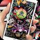 Rock skull graffiti street art lock screen desktop by Cool Theme Creator