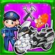 Police Motorbike Wash Salon by Smile Stones Studio