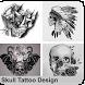 Skull Tattoo Design by Bregidau OK